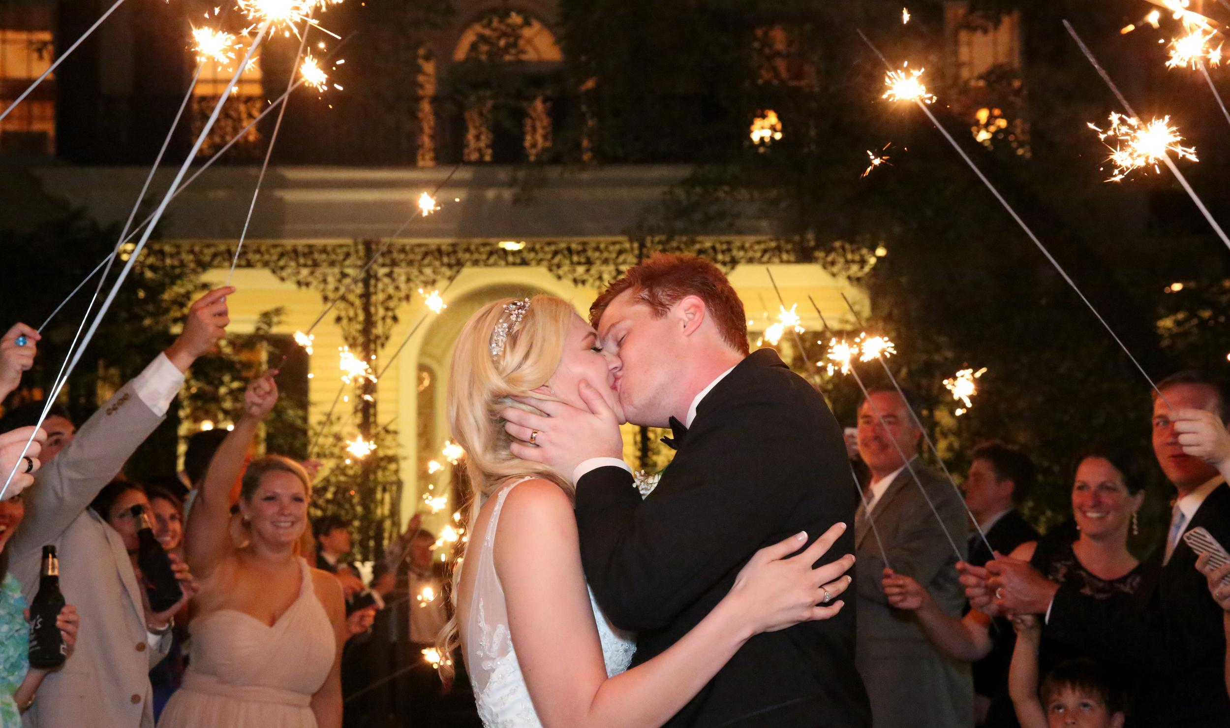 Sparkler exit at Columbia SC wedding