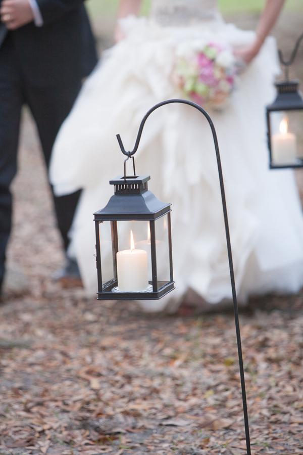 Outdoor Lanterns at Middleton Place Wedding