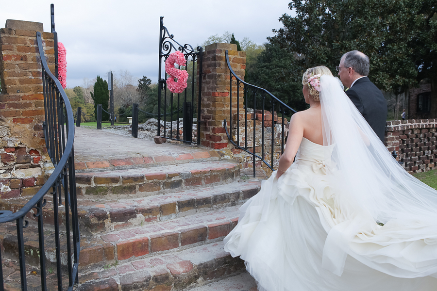Middleton Place Wedding ceremony at Butterfly Lakes
