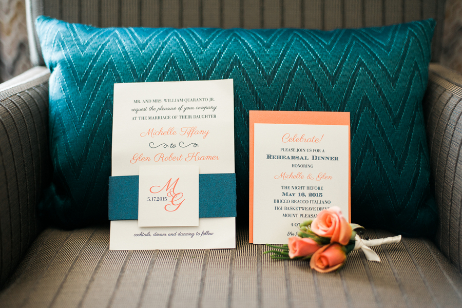 Charleston wedding invitations at Creek Club at I'On by Alyona Photography