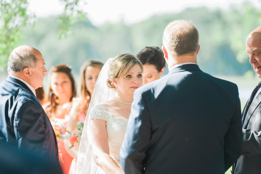 Outdoor Creek Club at I'On wedding ceremony by Alyona Photography