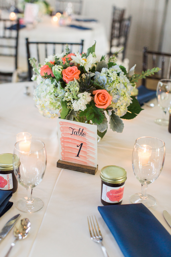 Charleston wedding centerpieces at Creek Club at I'On by Frampton Flowers