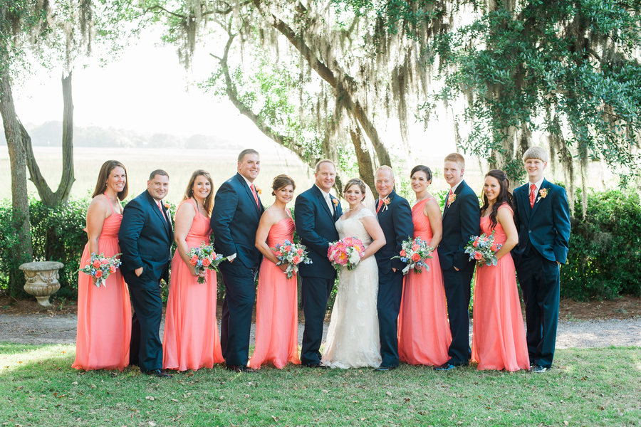 Navy And Coral Wedding.Navy And Coral Charleston Wedding At Creek Club At I On A