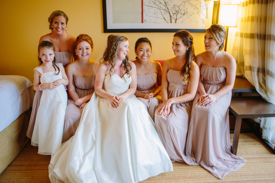 Bridesmaids at Charleston Yacht Club wedding by Stacy Howell Photography