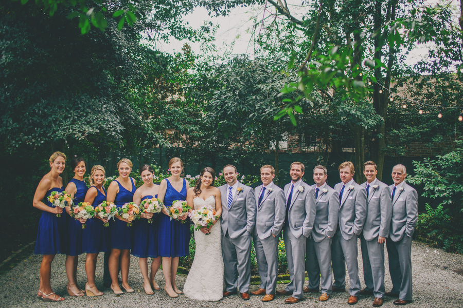 Royal blue & Gold Charleston wedding at Thomas Bennett House by Hyer Images
