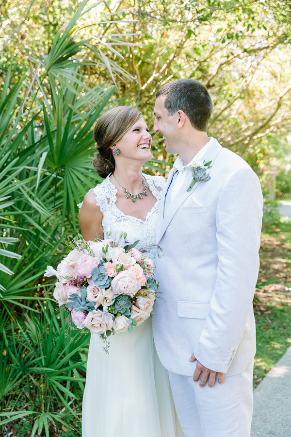 Summer wedding with succulents in Myrtle Beach, SC by One Life Photography