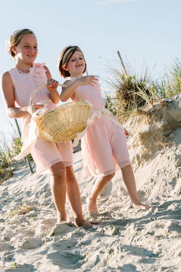 Flower Girls in Pink at wedding in Myrtle Beach, SC