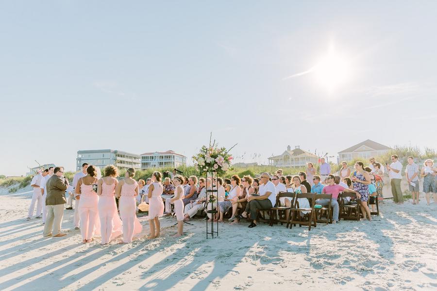 Beachfront wedding ceremony in Myrtle Beach, Sc