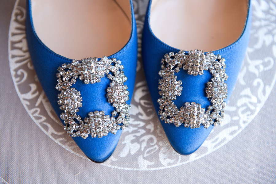 Charleston Wedding Shoes - Blue Manolo Blahniks