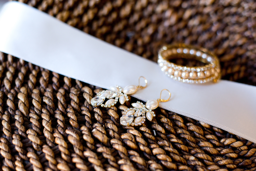 Charleston Wedding jewelry - earrings and rings by Reese Moore Weddings