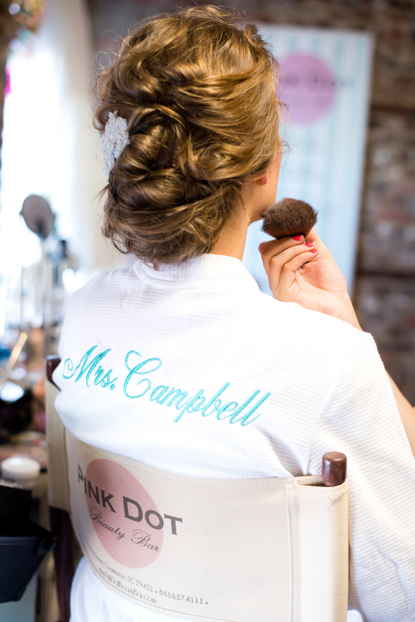 Charleston Wedding updo by Pink Dot Beauty Bar