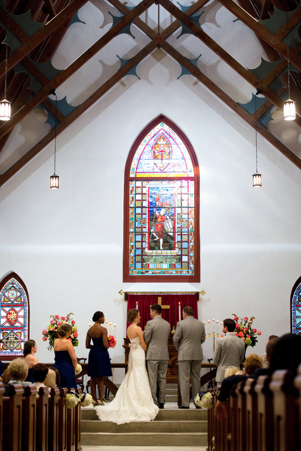 St. Luke's Chapel wedding ceremony in Charleston, SC