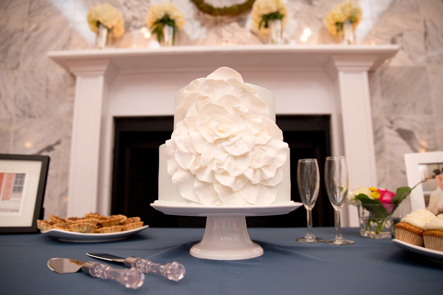 Charleston wedding cake by Wildflour Bakery at Citadel Beach House
