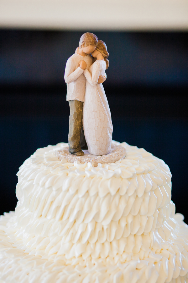 Charleston wedding cake topper at Cooper River Room by Judy Nunez Photography