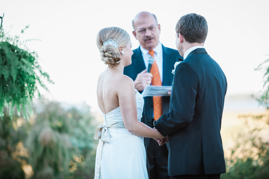 Jessie and Ryan's outdoor Charleston wedding ceremony at Cooper River Room