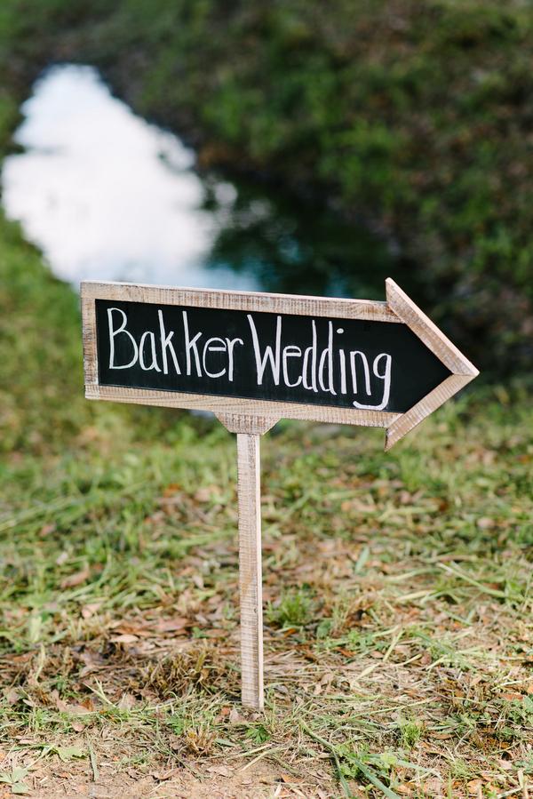 Charleston Wedding chalkboard sign at Boone Hall Plantation by Riverland Studios
