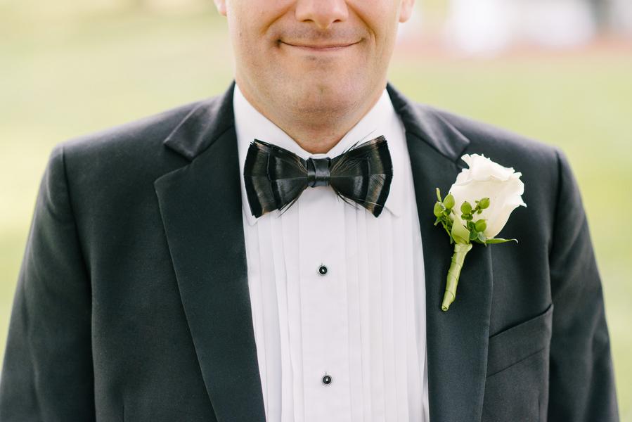 Brackish Bow tie at Charleston Wedding at Boone Hall Plantation by Riverland Studios