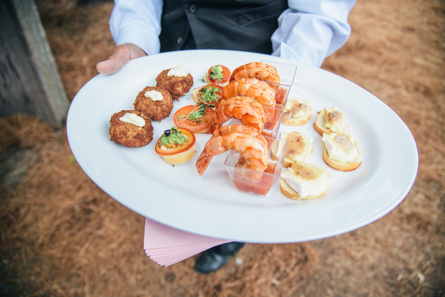 Charleston Wedding catering at Boone Hall Plantation by Duvall Events