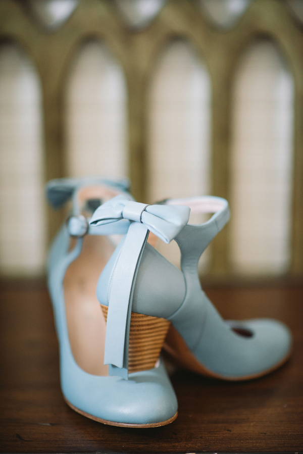 Southern Wedding Shoes in pale blue at 403 North Lake Events by Alyson Taylor Events