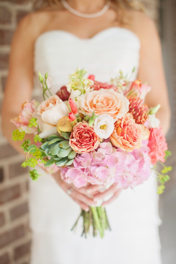 Succulent Wedding Bouquet - Charleston, Savannah, Hilton Head, Myrtle Beach