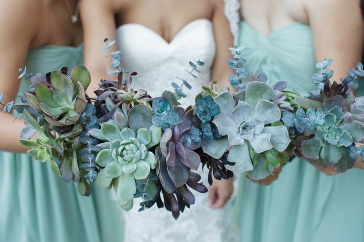 Succulent Wedding Bouquets - Myrtle Beach, Savannah, HIlton Head, Charleston