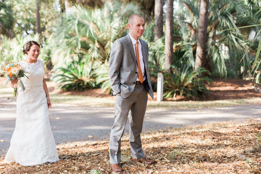 First Look by Riverland Studios at Fripp Island wedding