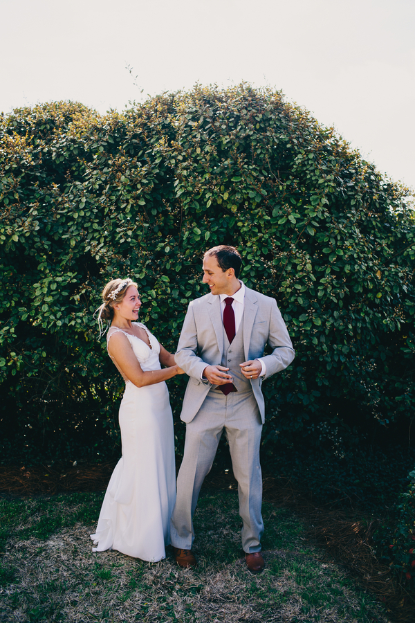 Rice Mill Building Wedding First look in Charleston, SC by Hyer Images