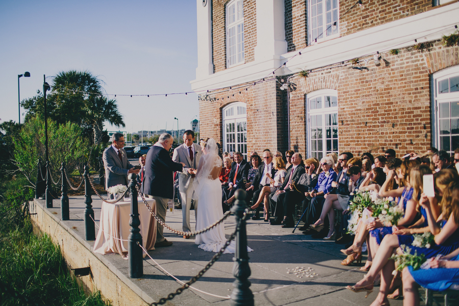 Rice Mill Building Wedding ceremony in Charleston, SC by Hyer Images