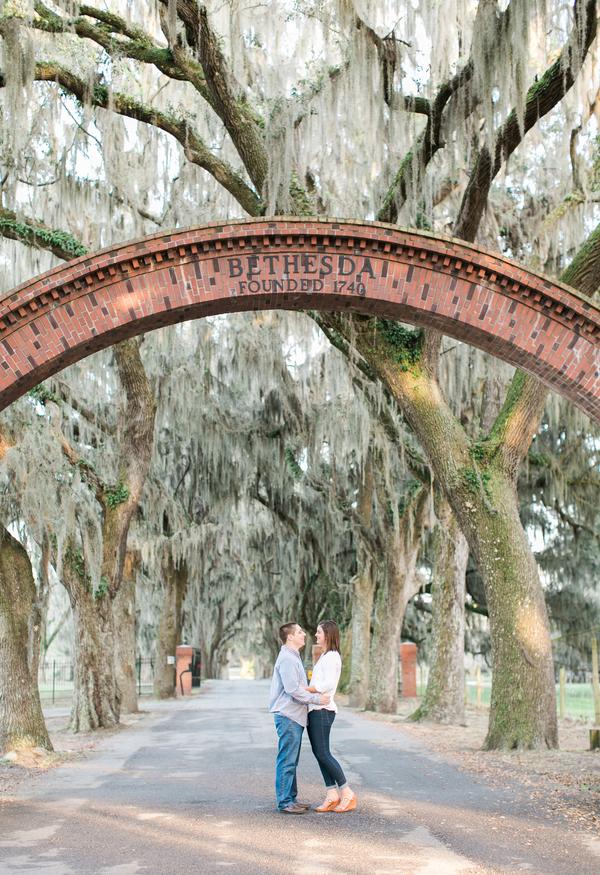 Savannah Wedding Engagement at Bethesda Academy