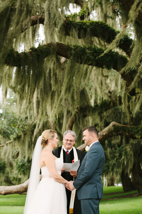 Jocelyn + Greg's Jekyll Island Club Hotel Wedding Ceremony in Georgia by Wild Cotton Photography