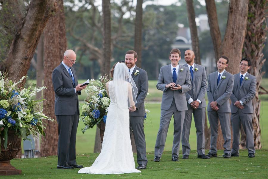 Navy Kiawah Island Golf Resort Wedding ceremony by MCG Photography