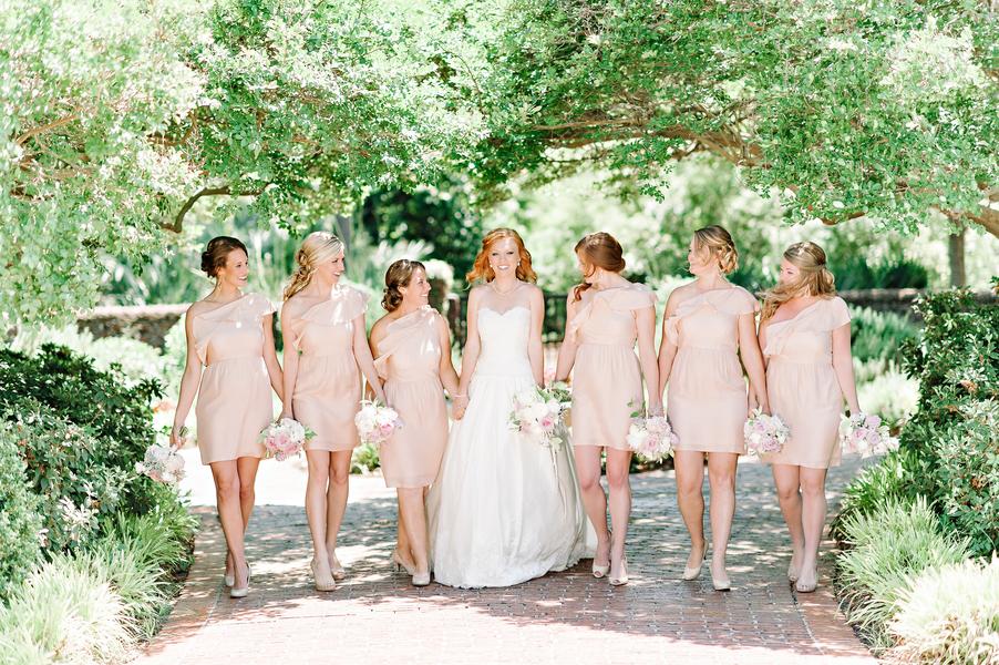 Myrtle Beach Wedding Bridesmaids in Pale pink