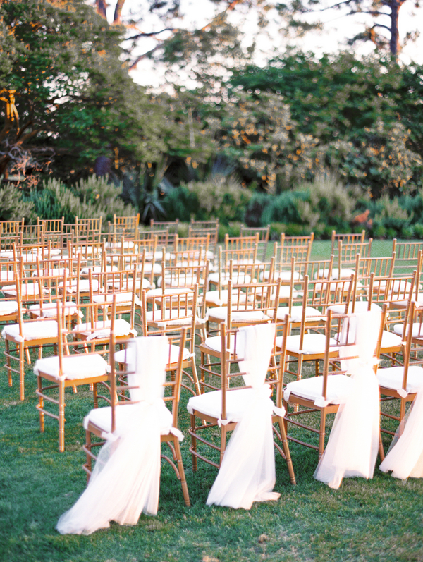 Gold Chivari chairs at Myrtle Beach Wedding ceremony at Pine Lakes Country Club
