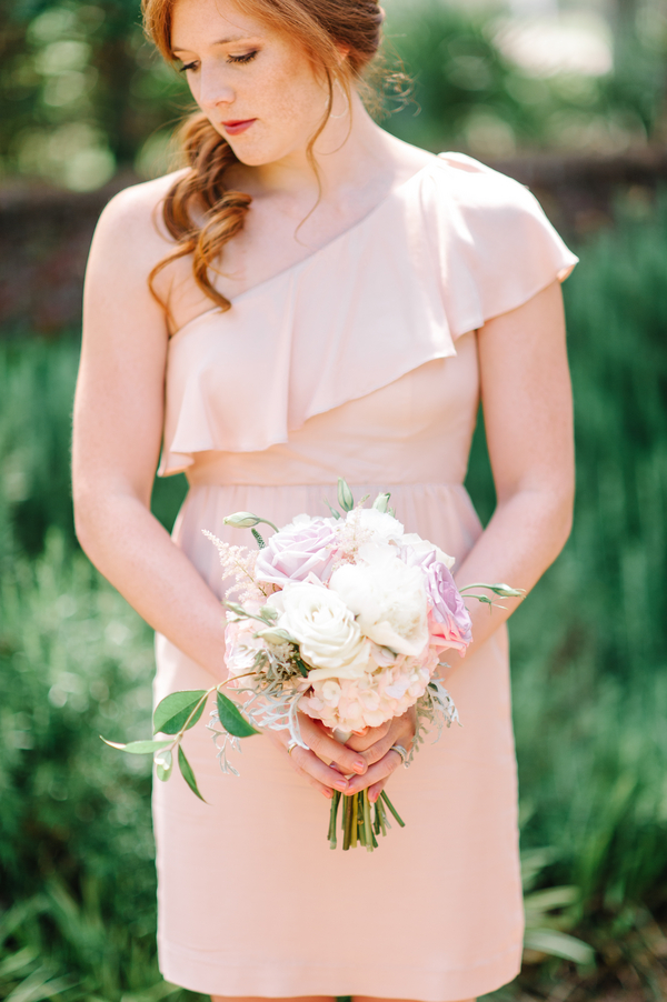 Pale Pink Bridesmaids dress at Myrtle Beach Wedding at Pine Lakes Country Club