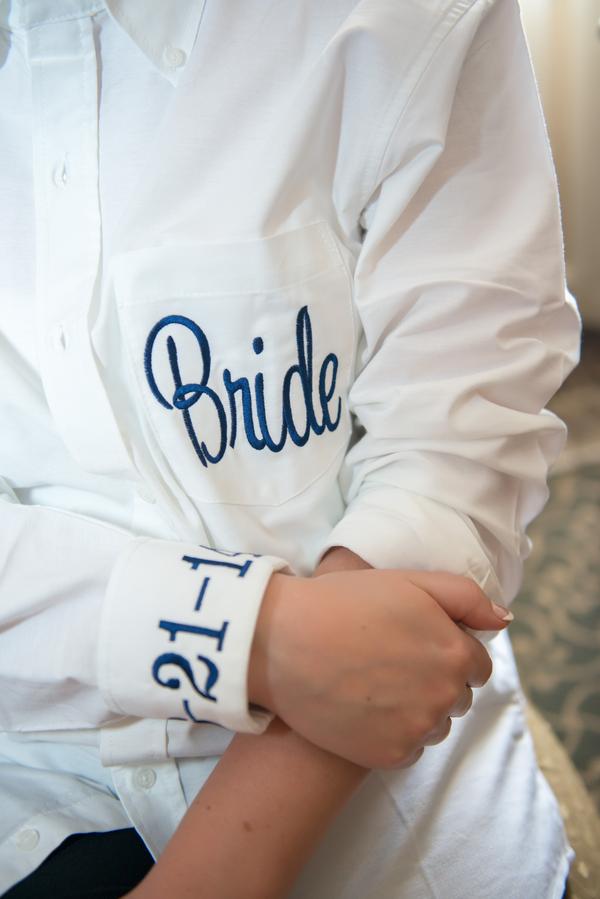 Monogrammed Bride's Shirt