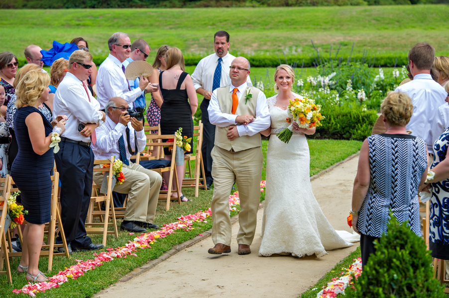 at Will + Dana's Middleton Place Wedding Ceremony