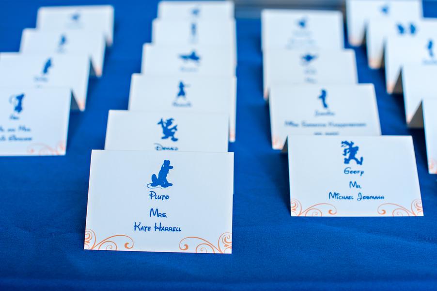 Placecards at William Aiken House Wedding