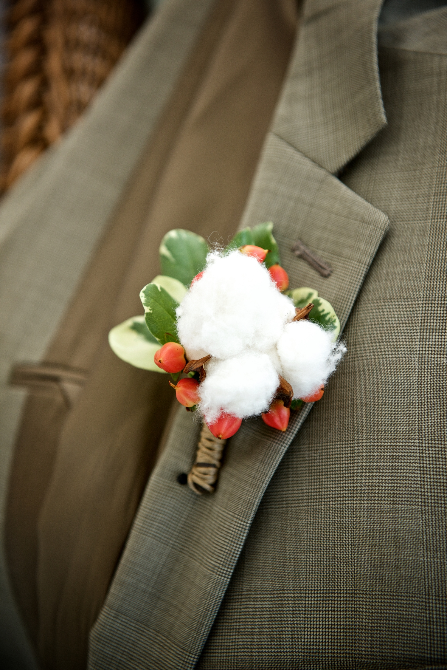 Groomsmen's boutonniere at Christine Kohler + Brook Bristow's Charleston wedding at Old Wide Awake Plantation by Yoj Events