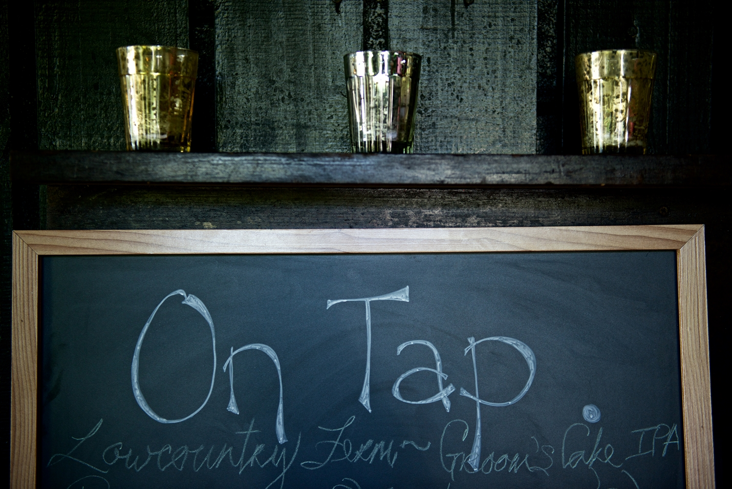 Beers on Tap from Revelry Brewing Co. at Christine Kohler + Brook Bristow's Summer Old Wide Awake Plantation wedding in Charleston, Sc by Yoj Events