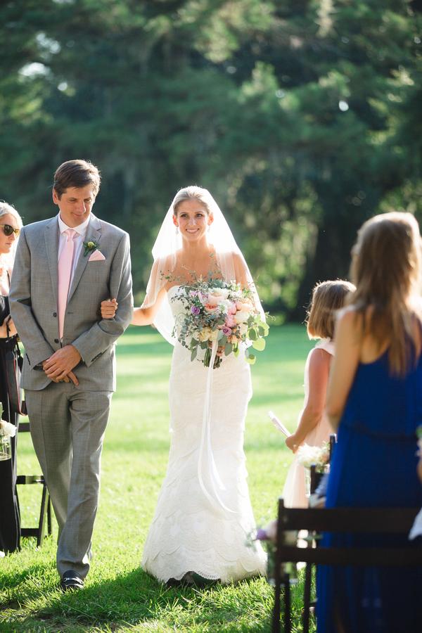 Magnolia Plantation Outdoor Wedding Ceremony by JoPhoto