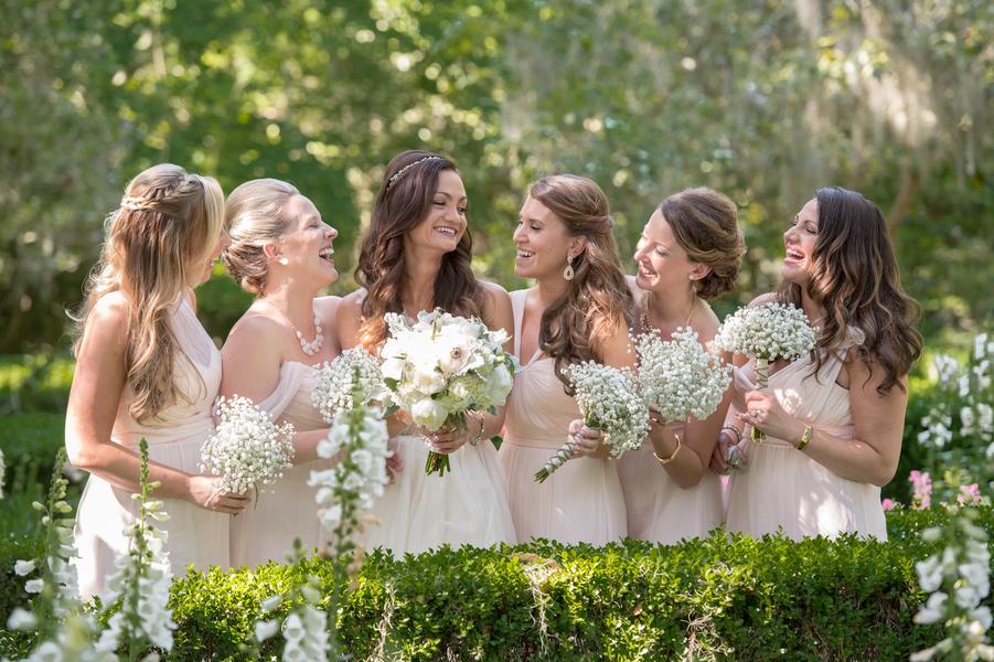 Pale Bridesmaids Dresses