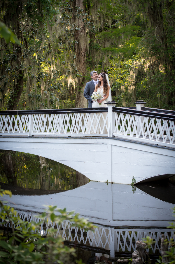 Lea + JJ's Magnolia Plantation and Gardens wedding sign in Charleston, SC by Pure Luxe Bride