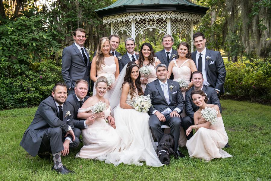 Lea + JJ's Magnolia Plantation and Gardens wedding