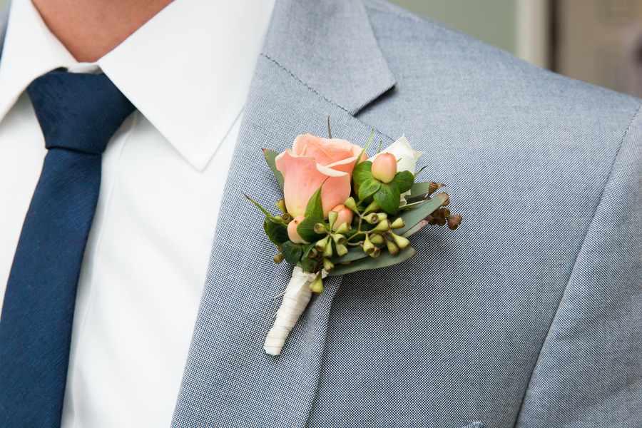 Charleston Wedding Boutonniere at Rice Mill Building