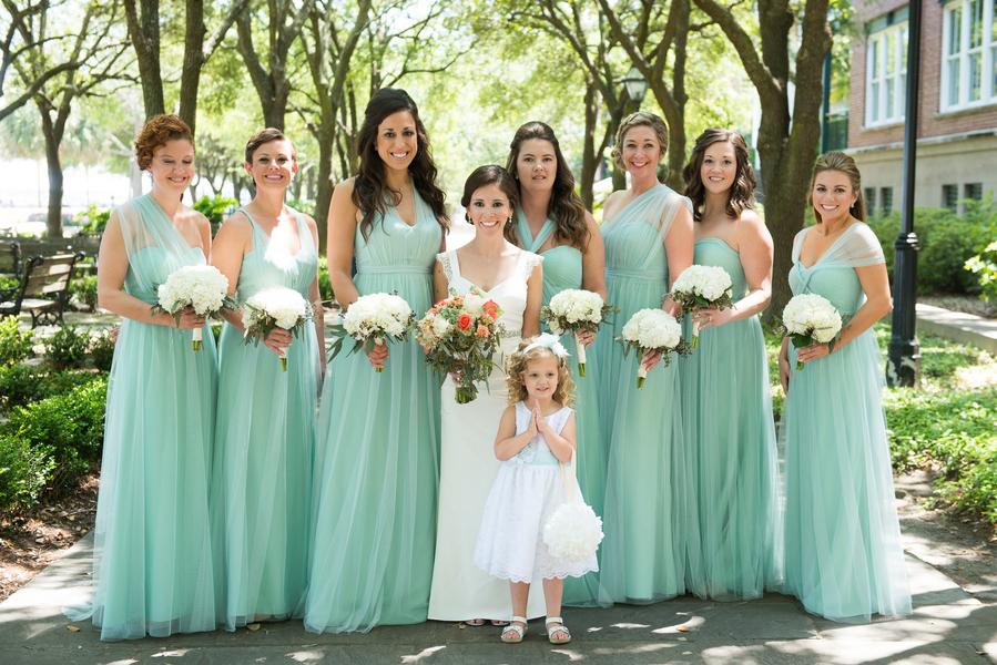 Charleston Bridesmaids at Rice Mill Building wedding