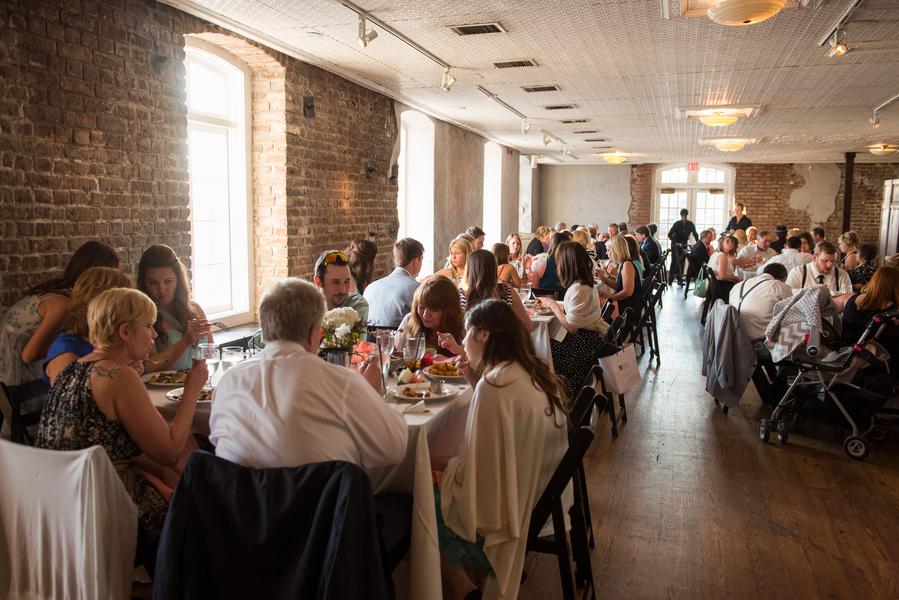 Charleston wedding reception at the Rice Mil Building