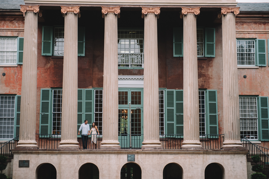 David + Meghan's College of Charleston Engagement by Jennings King Photography