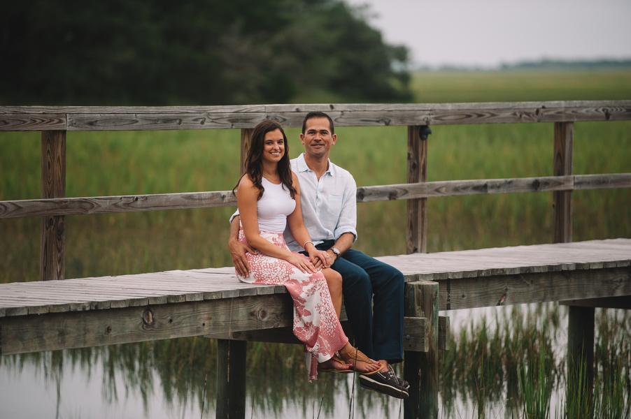 Charleston Engagement on the docks