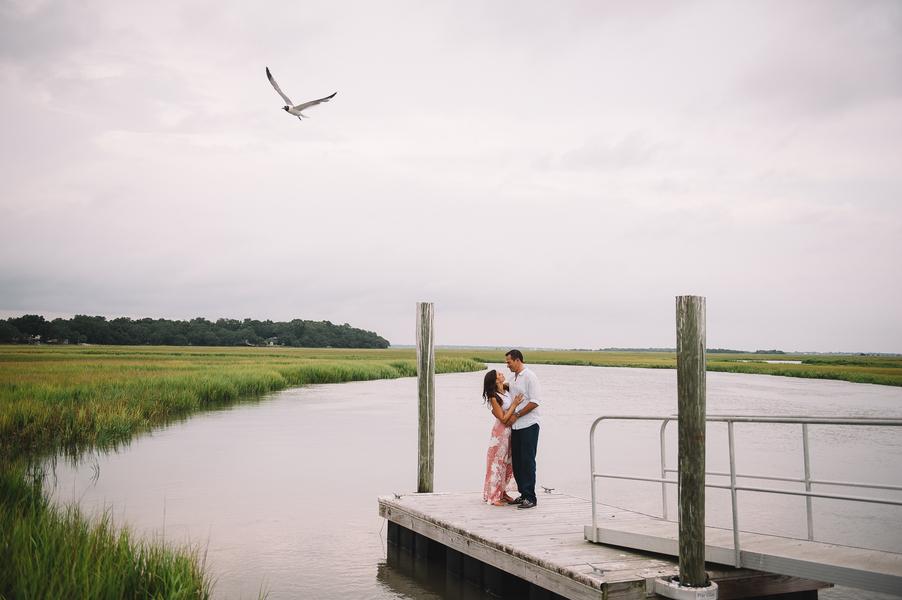 David + Meghan's Charleston Engagement on the docks by Jennings King Photography