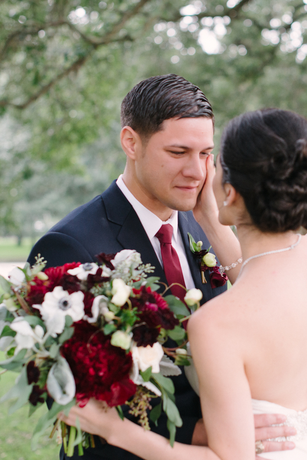 Charleston wedding first Look at the Citadel by Whimsey Photography